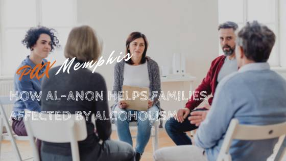 group of people at an al-anon meeting for help with alcoholism in the family