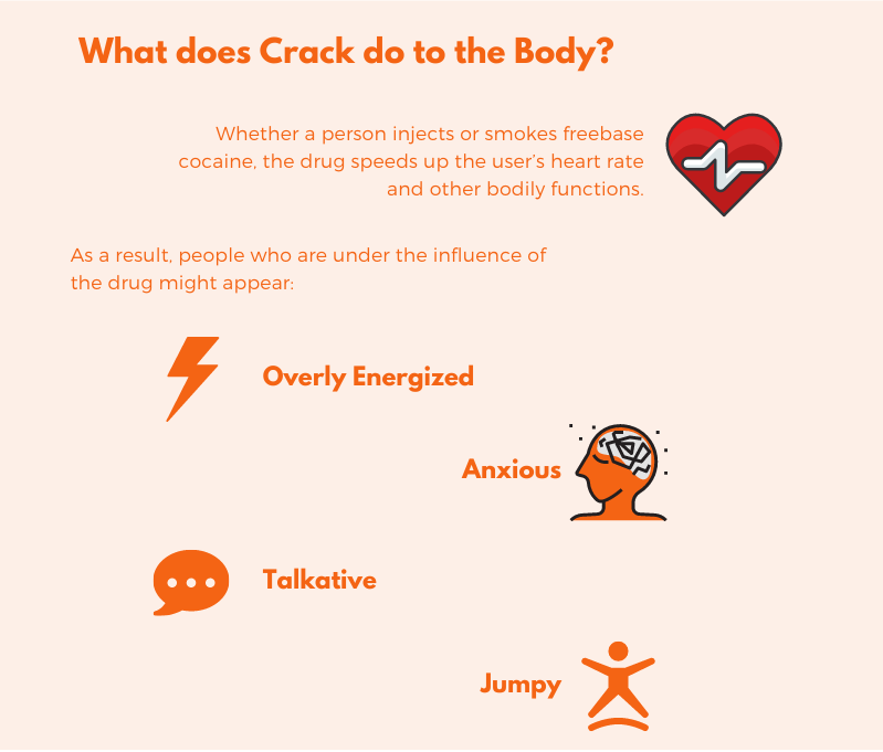 What does crack do to the body