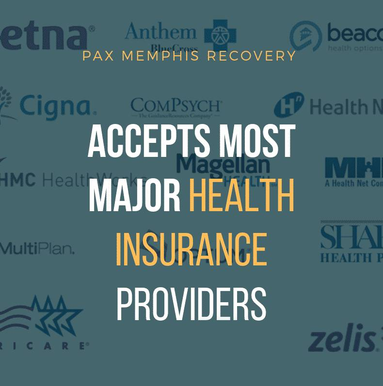 Insurance Providers | PAX Memphis TN Substance Abuse Rehab Coverage