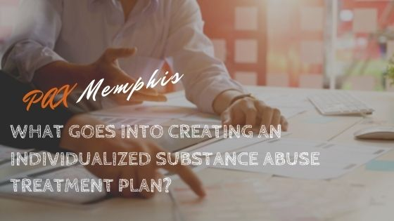 patient and therapist writing a substance abuse treatment plan