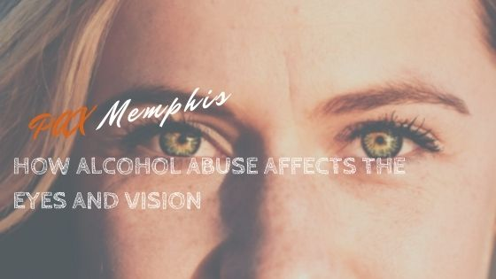 girl suffering how alcohol abuse affects the eyes