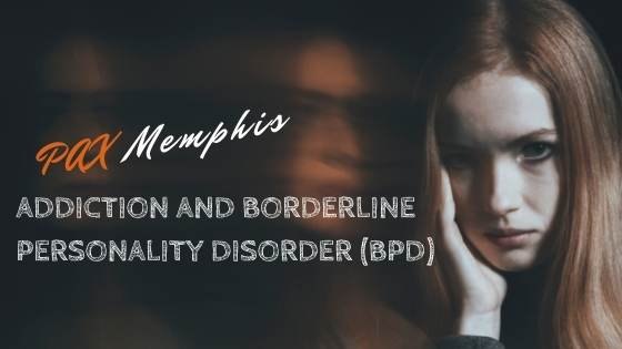 girl with borderline personality disorder and addiction